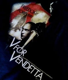Black-XL-V-For-Vendetta-Movie-T-Shirt-Natalie-Portman-Alan-Moore-Vertigo-Comics