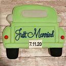 Replica of the 1953 Chevy truck the newlyweds drove off in @ntheodoro @msrygley  #ctcookietreats #customcookies #justmarried #weddingday Custom Cookies, Here Comes The Bride, Just Married, Wedding Day, Treats, Photo And Video, Newlyweds, Chevy, Truck