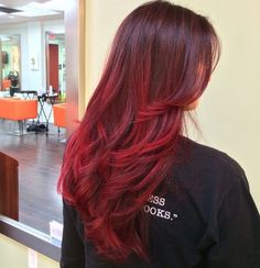 Best Balayage Ombre Hair Color Ideas 2018 - Page 19 of 45 - Love Hairstyles Brown Black Hair Color, Hair Color For Black Hair, Love Hair, Brown Hair, Red Hair With Black Roots, Color Red, Brown To Red Ombre, Hair Colour, Dark Hair