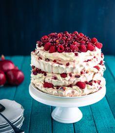 Raspberry Pomegranate Layered Pavlova ❤️
