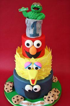 Sesame Street Birthday Cake Fresh First Birthday Cakes Nj Sesame Street Custom Cakes Sesame Street Birthday Cakes, Sesame Street Cake, Custom Birthday Cakes, First Birthday Cakes, Birthday Ideas, Baby Birthday, Anniversaire Elmo, Character Cakes, Novelty Cakes