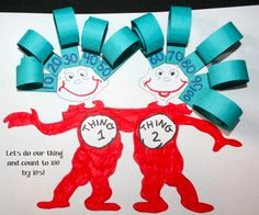 Classroom Freebies: Thing 1 and Thing 2 Counting Curls
