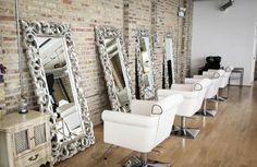 Beauty salon ideas for small space shabby chic hair salon decor how to make your salon . Beauty Salon Decor, Beauty Salon Design, Beauty Salons, Beauty Salon Interior, Salon Interior Design, Schönheitssalon Design, Hair Design, Design Ideas, Studio Decor