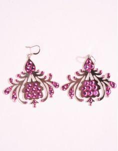 Petra Toth pink Slovak earrings