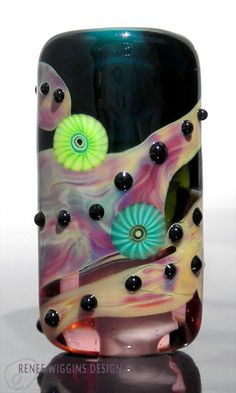 ON SALE Paint Me Renee Wiggins Design Lampwork Glass Focal Bead. $30.00, via Etsy.