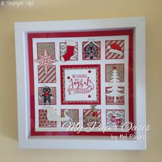 Christmas Sampler Shadow Box – My Paper Oasis