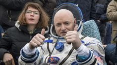 FILE - In this March 2, 2016, photo provided by NASA, International Space Station crew member Scott Kelly of the U.S. reacts after landing near the town of Dzhezkazgan, Kazakhstan.