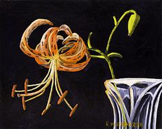 Image result for tiger lilies modern paintings