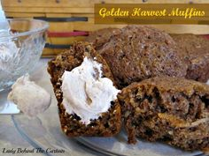 Lady Behind The Curtain - Golden Harvest Muffins   Cream cheese butter recipe