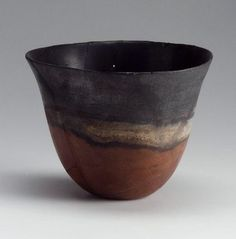 Black-topped red polished beaker  Nubian, Classic Kerma, about 1700–1550 B.C.  looks completely modern, doesn't it?