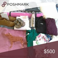 My posh haul!! I am so excited. My very first posh haul!! Thanks to you ladies who did sales and trades with me!! I can't wait to wear all this!!  NOT SELLING! DONT ASK. PINK Victoria's Secret Tops