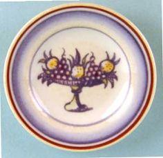 Decorative plate - fruit bowl - $26.00 : S P MINIATURES - hand crafted dollhouse scale miniatures, S P MINIATURES - shop online for dollhouse scale miniatures