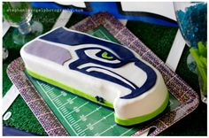 Boy's Football Birthday Cake www.spaceshipsandlaserbeams.com