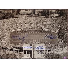 Alabama Legends Multi Signed Stadium Overhead B/W Horizontal 16x20 Photo