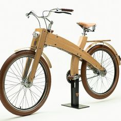 Specifications Frame - Birch and Oak Gearshift Lever - Mud Cycles Hub Gear - Shimano Nexus speed) Brake Levers - Miranda Brakes - Shimano Rollerbrake Pedals - Wooden Mud Cycles Crankset - Miran Wooden Bicycle, Wood Bike, Bici Retro, E Biker, Velo Vintage, Bois Diy, Bicycle Storage, Bicycle Pedals, Crafts With Pictures