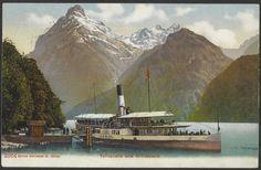"""Tellsplatte und Urirotstock.  PK_006155. User Josef: """"Das Dampfschiff """"Uri"""" wurde am 2. Mai 1901 in Dienst gestellt. Das Foto stammt aus dieser Zeit. Postkarten liefen oft sehr lange."""" Image Archive, Album, Mai, Letters, Painting, Photos, Steam Boats, Stamps, Postcards"""