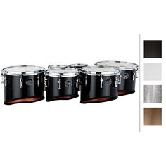 Mapex Quantum Marching Tenor Drums Sextet 6, 6, 8, 10, 12, 13 in. Gray