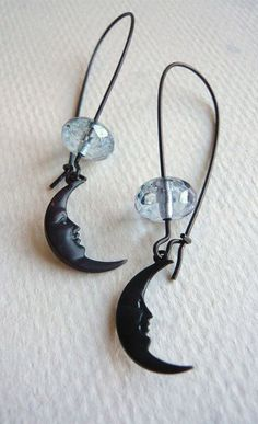 Dark Moon Earrings <3