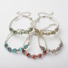 PandaHall Jewelry—Glass Bracelets with Tibetan Style Bead Caps and Brass Tube Beads | PandaHall Beads Jewelry Blog