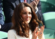 Kate Middleton Photos - Catherine, Duchess of Cambridge looks on from the Royal Box on Centre Court during day nine of the Wimbledon Lawn Tennis Championships at the All England Lawn Tennis and Croquet Club on July 4, 2012 in London, England. - The Championships - Wimbledon 2012: Day Nine
