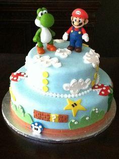 Super Mario Bros.  Cake by april0408