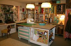 Miss Atomic's fabulously retro sewing space!