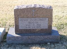 """Henry Overstreet Booth, Sr (1896 - 1975) - Find A Grave Photos  """"Big Brother"""" is how he was known in the family."""