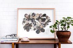 """Florascape""  740mm x610mm, framed in Tasmanian Oak Eco-dyed silk, organza, cotton, bamboo batting, thread, sequins, beads."