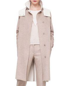B30KT Akris Double-Faced Cashmere Reversible Coat