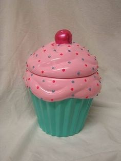Alpine Glow Morning Light 3-D Sparkling Sunrise Candy Dots Cupcake Jar by whitedovecrafts on Etsy   Divinely delicious, brighten your morning or anytime, never melt kitchen cupcake decor to adore.  The candy dots will add RAZZLE DAZZLE to your kitchen.