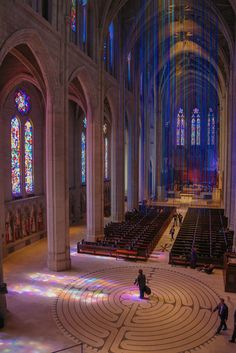 Graced with light (Grace Cathedral in San Francisco) Anne Patterson