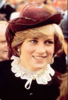 October 29, 1981: Princess Diana visits the maternity ward of Llwympia Hospital on her last day of her official visit to Wales..