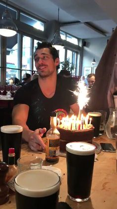 ck David James Gandy birthday cake