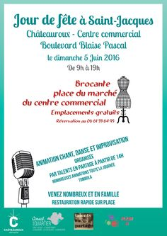Brocante Et Fete A Saint Jacques Chateauroux Centre Commercial Saint Jacques Boulevard Blaise Pascal Dimanche 5 Ju Saint Jacques Brocante Centre Commercial
