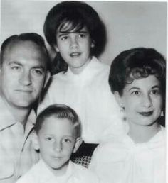 Stevie & brother Christopher with Mom & Dad Nicks