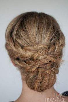 Hairstyle How-to: Easy braided updo | http://twistbraidhairstyles.blogspot.com
