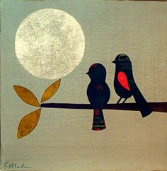 grey moon birdies | erica maule..