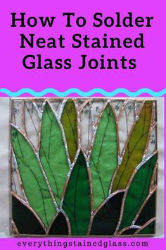 If you're having trouble with neatly soldering your stained glass there are a couple of techniques you can learn to improve it. This stained glass tutorial takes you step by step through an example of how to solder a copper foil project. Stained Glass Supplies, Making Stained Glass, Stained Glass Birds, Faux Stained Glass, Stained Glass Designs, Stained Glass Panels, Stained Glass Projects, Stained Glass Patterns, Leaded Glass