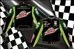 Dale Earnhardt Jr. Diet Mountain Dew Mens Black Twill 2013 Nascar Jacket by RacingGifts. $126.00. Since 1988, JH Design and Jeff Hamilton have been manufacturing the highest quality jackets in the world. Since their inception, quality has been the number one focus when producing a product for their customers JH Design offers a 100% cotton Heavy Brushed Twill Uniform Jacket with shoulder pads, Satin lining, and hidden stainless steel snaps. These jackets have all the licensed di...