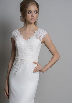 Enquire about this dress Luxury Dress, Bridal Collection, One Shoulder Wedding Dress, Chiffon, Boutique, Silk, Bride, Wedding Dresses, Lace
