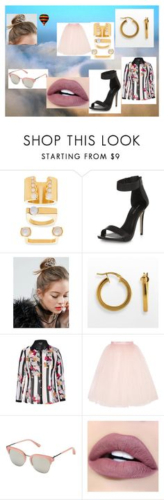 """""""far away"""" by maybejustonetear ❤ liked on Polyvore featuring Steve Madden, New Look, ASOS, Elegante, City Chic, Ballet Beautiful and Elizabeth and James"""