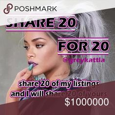 "Sharing 20 for 20! Let's share and grow! Share 20 of my listings and I will return the favor and share 20 of yours from your Posh-compliant closet! Comment ""done"" or ""shared"" so I'll know to do the same for you. This is not a share group, just a simple one-on-one share. Come back as often as you like. No special share requests. Thank you and let's do this!!! Free People Dresses"