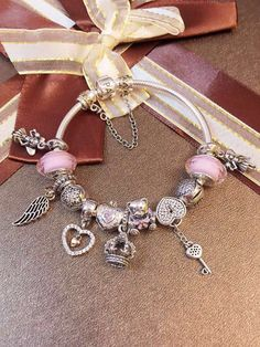 50% OFF!!! $319 Pandora Charm Bracelet. Hot Sale!!! SKU: CB01537 - PANDORA Bracelet Ideas
