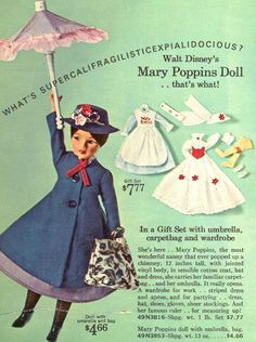 1965 Sears Christmas Catalog, Mary Poppins doll.