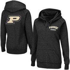 Purdue Boilermakers Women's Vegas Full Zip Hoodie Sweatshirt - Black