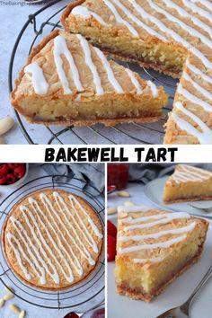 Recipe for the classic British Bakewell Tart - a sweet shortcrust pastry tart filled with raspberry jam and almond frangipane #thebakingexplorer #bakewelltart #britishfood #shortcrustpastry #frangipane Shortcrust Pastry Tarts, Savory Pastry, British Bake Off, British Baking, Homemade Desserts, Delicious Desserts, Bakewell Tart, Tart Filling, Sweet Tarts