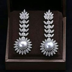 Earrings pearls diamonds @michelles_thejewellerystore