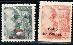 GUINEA ESPAÑOLA 1942 (269-270) GENERAL FRANCO (NUEVO)