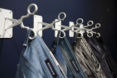 "DENHAM, Antwerp, Belgium, ""Close-up scissors hooks"", pinned by Ton van der Veer:"