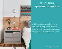 Aplicando Feng Shui no Quarto de Dormir Decor, House Design, Sala, Bed, Furniture, Dresser As Nightstand, Feng Shui, Bedroom, Home Decor